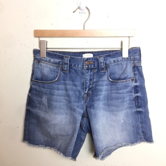 J. Crew Pants - J.crew Frayed Hem Light Wash Denim Shorts 27